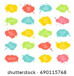 collection of multicolored... | Shutterstock .eps vector #690115768