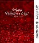 flying hearts valentine's day... | Shutterstock .eps vector #69011659