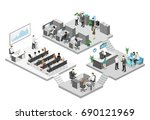 isometric conference hall ... | Shutterstock .eps vector #690121969