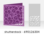 card circular pattern for laser ...   Shutterstock .eps vector #690126304