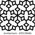 seamless abstract geometric... | Shutterstock .eps vector #690128686