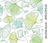 vector seamless pattern with... | Shutterstock .eps vector #690129310