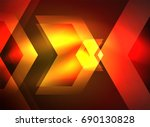 digital technology glowing... | Shutterstock . vector #690130828