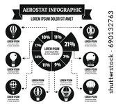 aerostat infographic banner... | Shutterstock .eps vector #690132763