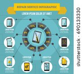 repair service infographic... | Shutterstock .eps vector #690133330