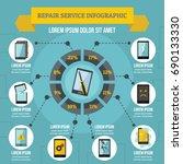 repair service infographic... | Shutterstock .eps vector #690133330