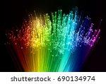 fiber optic cables | Shutterstock . vector #690134974