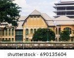 bangkok  thailand. chao phraya... | Shutterstock . vector #690135604