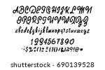 vector alphabet. calligraphic... | Shutterstock .eps vector #690139528