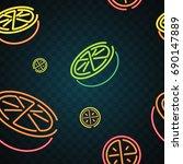 orange and lemon neon design | Shutterstock .eps vector #690147889