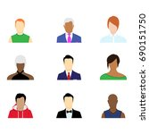 group of working people... | Shutterstock .eps vector #690151750
