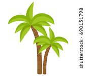 vector illustration palm tree... | Shutterstock .eps vector #690151798