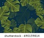 tropical background summer fresh | Shutterstock .eps vector #690159814