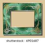 malachite border with golden...   Shutterstock .eps vector #6901687