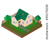 isometric projection of the... | Shutterstock .eps vector #690170230