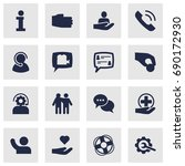 set of 16 maintenance icons set.... | Shutterstock .eps vector #690172930