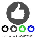 thumb up flat vector icon.... | Shutterstock .eps vector #690173308