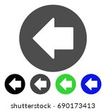 previous arrow flat vector... | Shutterstock .eps vector #690173413