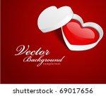 open gift heart valentine's day ... | Shutterstock .eps vector #69017656