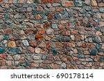 old masonry wall background | Shutterstock . vector #690178114