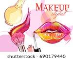 vector hand drawn illustration... | Shutterstock .eps vector #690179440