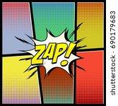 comic book style pop art. sound ... | Shutterstock .eps vector #690179683
