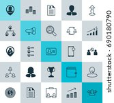 hr icons set. collection of... | Shutterstock .eps vector #690180790