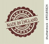 red made in england rubber... | Shutterstock .eps vector #690185824