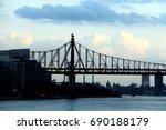 silhouette of 59th street... | Shutterstock . vector #690188179