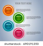 design elements infographic... | Shutterstock .eps vector #690191350