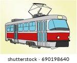 tram | Shutterstock .eps vector #690198640