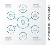 garment outline icons set.... | Shutterstock .eps vector #690198664