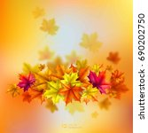 abstract autumn background.... | Shutterstock .eps vector #690202750