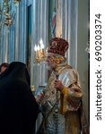 Small photo of APRIL 24,2011 ISTANBUL.Ayios Demetrios Church.The Paschal Greeting, also known as the Easter Acclamation, is an Easter custom among Eastern Orthodox, Oriental Orthodox, and Eastern Catholic Christians