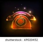 """telephone  """"made of light""""...   Shutterstock .eps vector #69020452"""