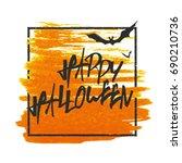 happy halloween. bats on... | Shutterstock .eps vector #690210736