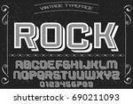 rock font handwritten vector... | Shutterstock .eps vector #690211093