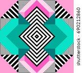 seamless geometric pattern in... | Shutterstock .eps vector #690212860