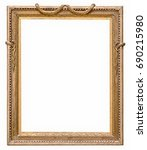 golden frame for paintings ... | Shutterstock . vector #690215980