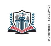 university logo | Shutterstock .eps vector #690219424