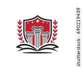 university logo   Shutterstock .eps vector #690219439