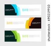 abstract design banner template.... | Shutterstock .eps vector #690219910