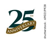 25 years anniversary vector... | Shutterstock .eps vector #690219928