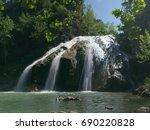 Close Up Shot Of Turner Falls ...