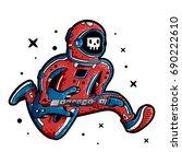 cosmonaut. astronaut. spaceman. ...   Shutterstock .eps vector #690222610