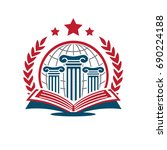 university logo | Shutterstock .eps vector #690224188