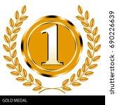 illustration of gold medals ... | Shutterstock .eps vector #690226639