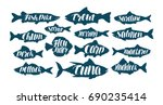 Fish  Collection Labels Or...