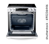 gas range cooker with warming... | Shutterstock . vector #690236446