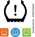 tire pressure monitoring system ... | Shutterstock .eps vector #690242644